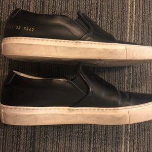Woman by Common Projects Leather Slip-On Sneaker